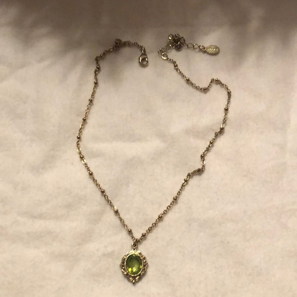 2028 Jewelry - 2028 faux emerald gold tone necklace